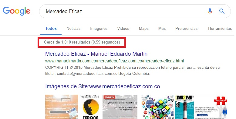 Indexacion Google - Mercadeo Eficaz