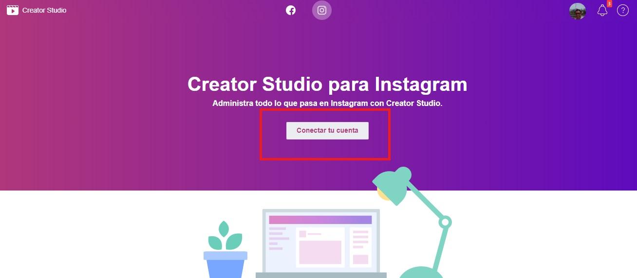 Conectar cuenta de Instagram con Creator Studio - Mercadeo Eficaz